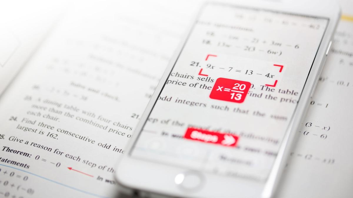 With the Photomath app, you can get step-by-step instructions to solving a math equation just by taking a picture of it