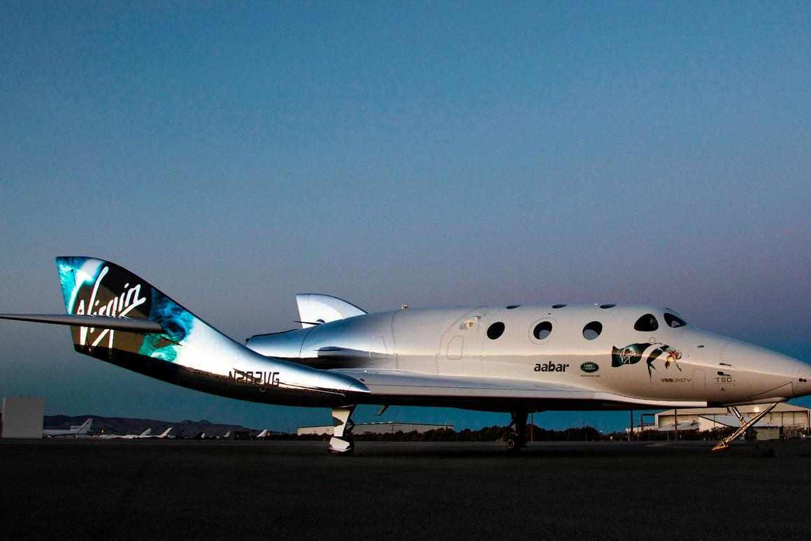 The certification came as VSS Unity began taxi trials