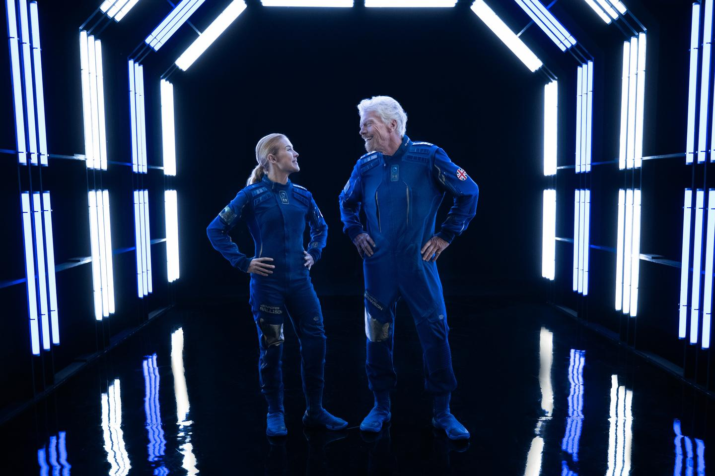 The spacewear designed to be worn by passengers aboard Virgin Galactic's spaceplane