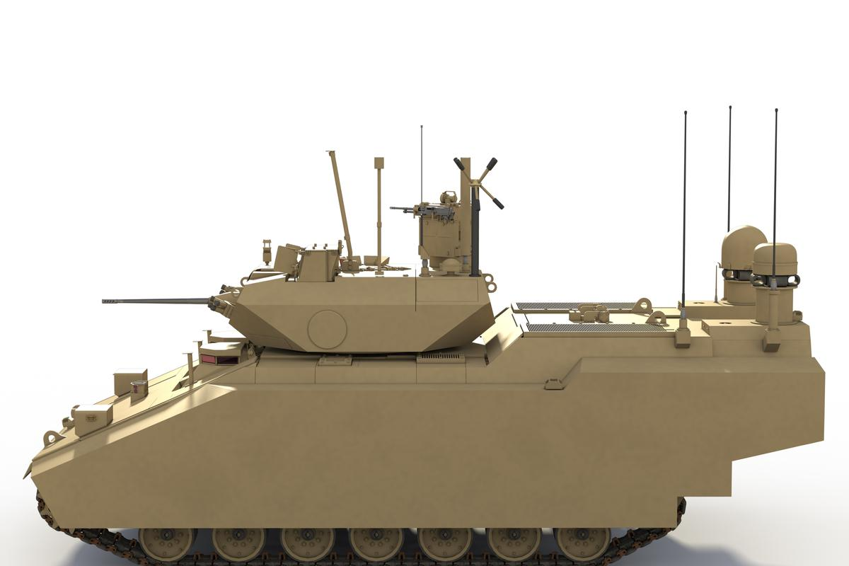 Artist's concept of the BAE Systems/Northrop Grumman hybrid GCV