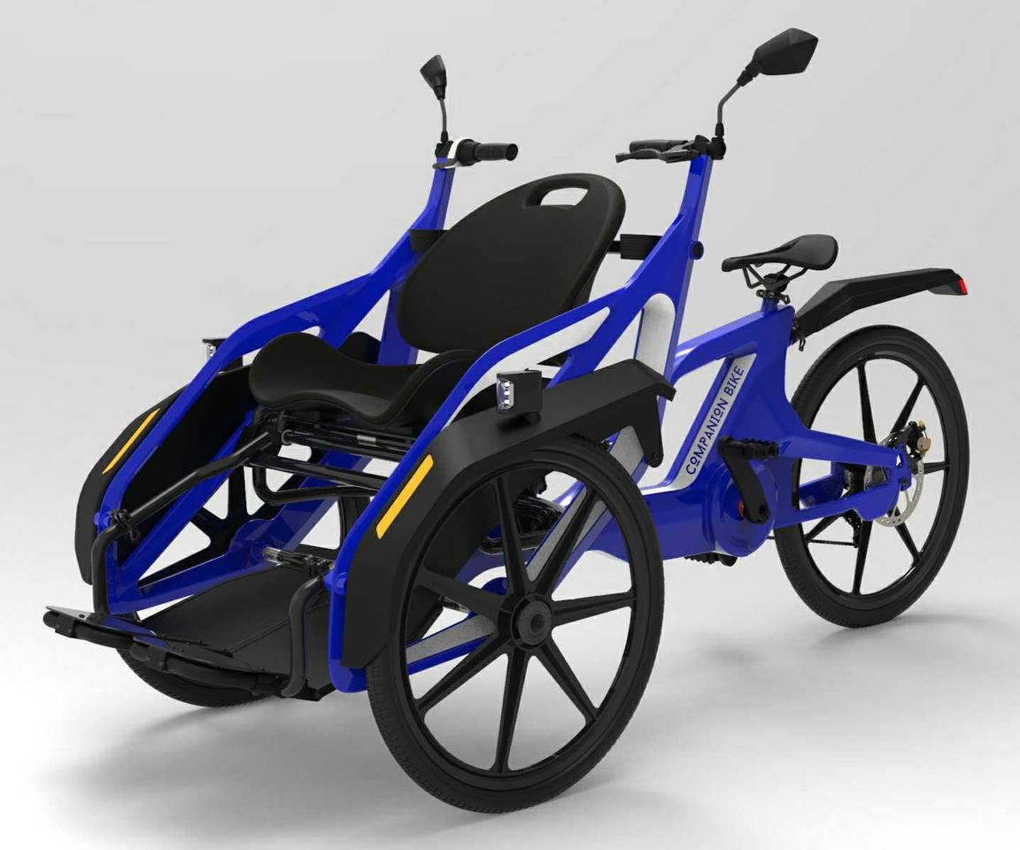 The Companion Bike can reportedly accommodate a maximum payload of 500 lb (227 kg)