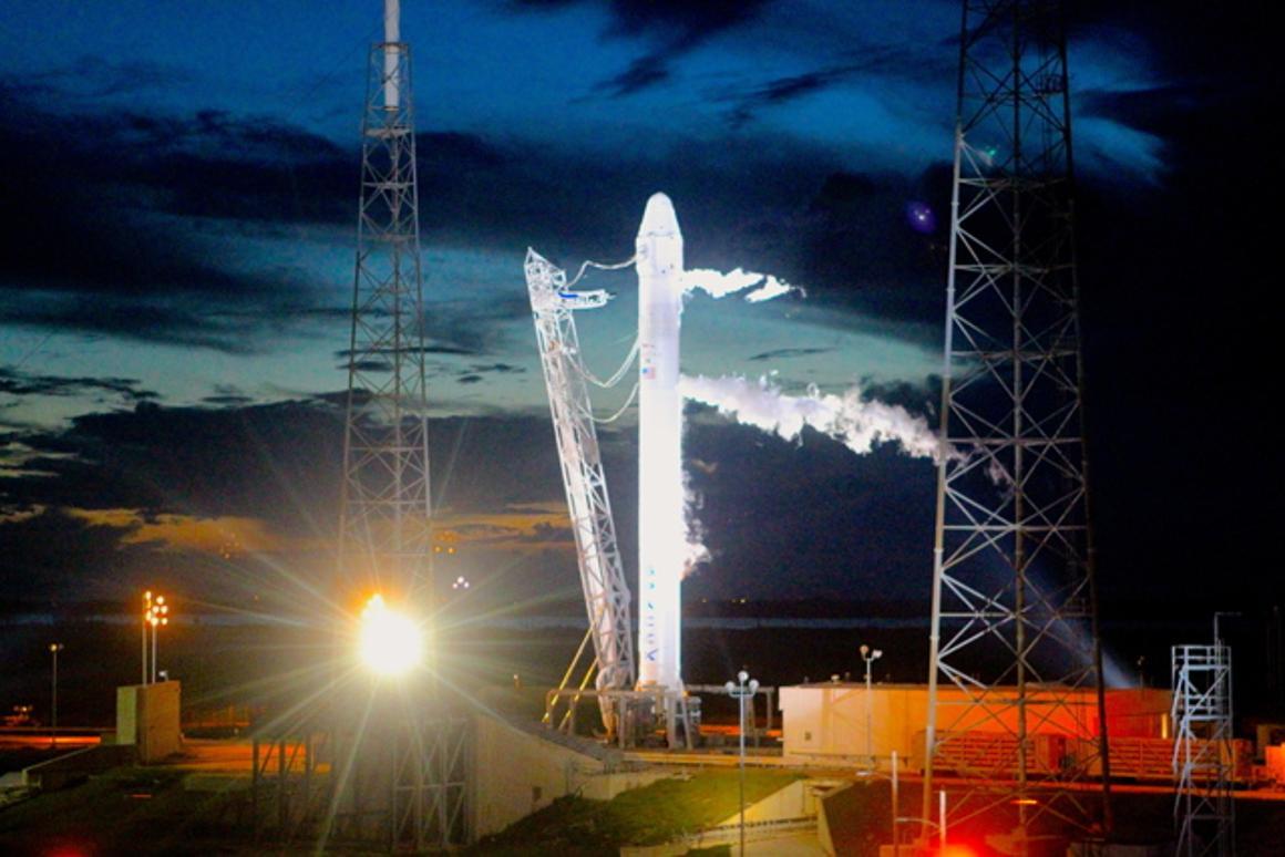 Dragon awaiting launch
