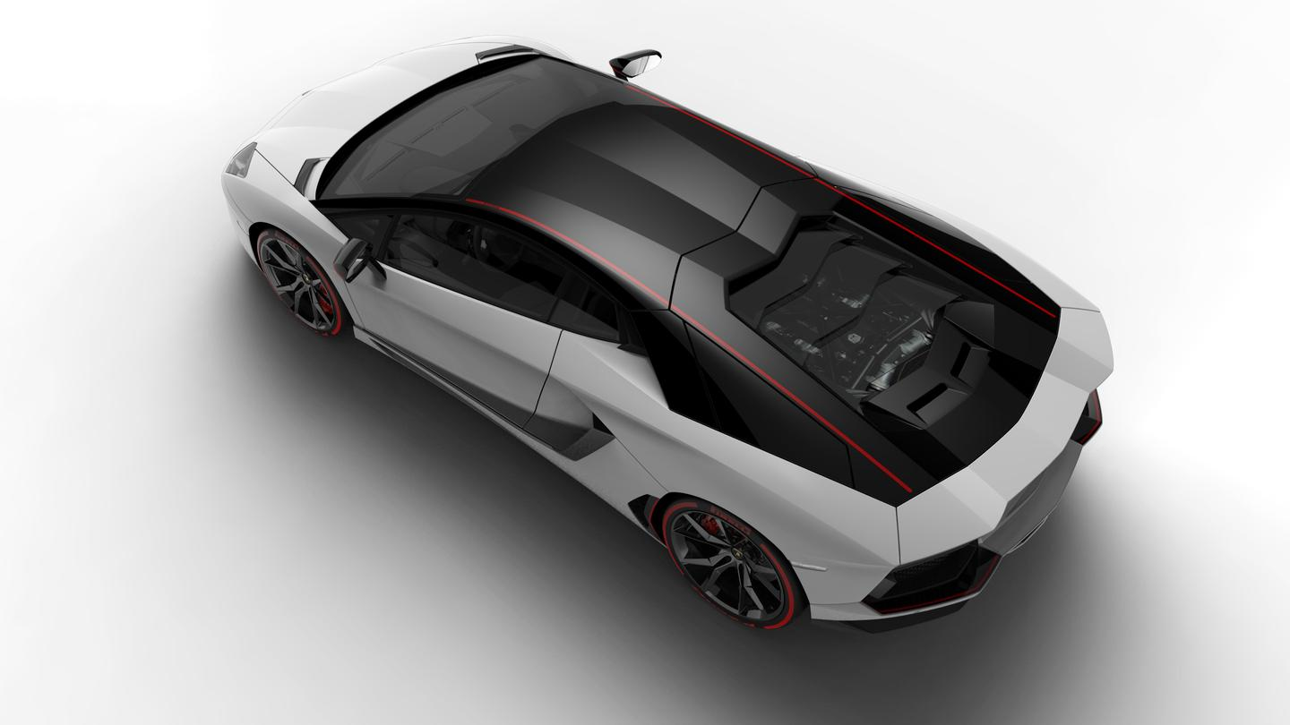 There are two different paint layouts available for the Aventador
