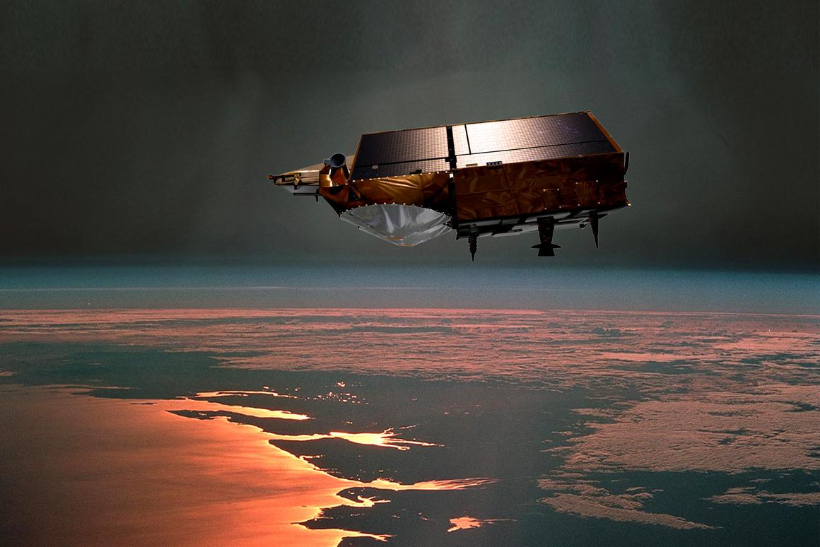 An artists impression of the ESA's CryoSat satellite (Image: ESA)