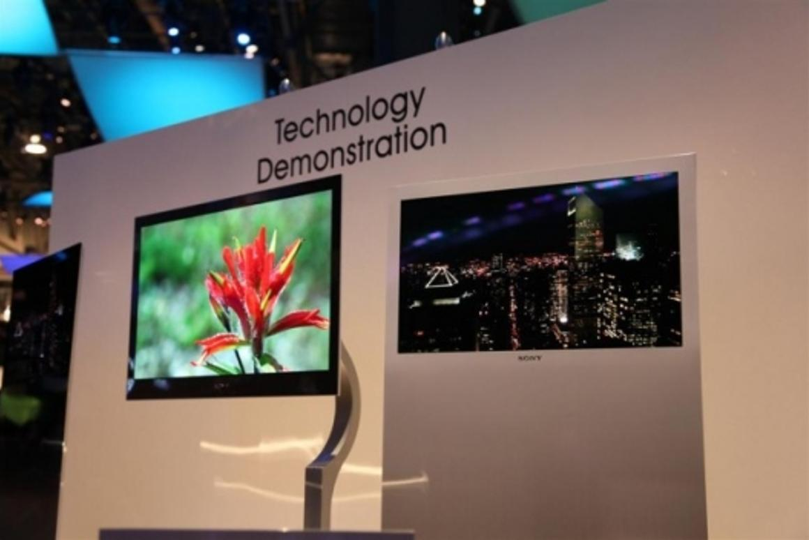 Sony's prototype OLED TVs