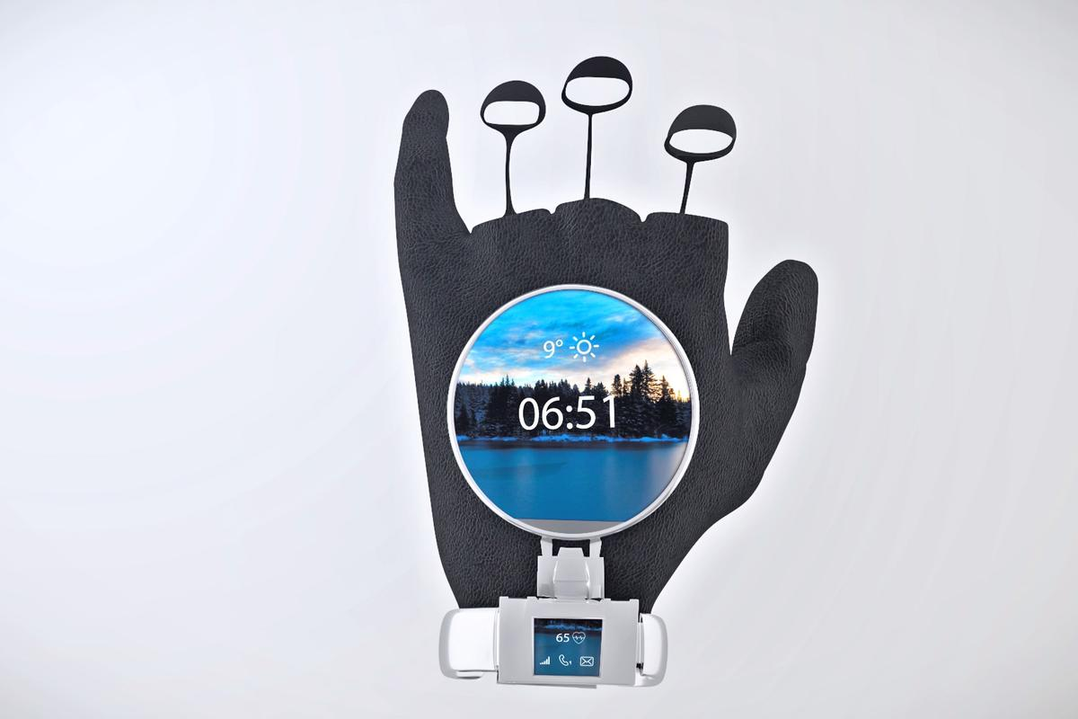 TheGlovdi smart glove isdesigned topack the functionality ofasmartphone, smartwatch,and fitnesstracker in one wearable device