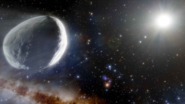 An artist's illustration of comet C/2014 UN271 Bernardinelli-Bernstein