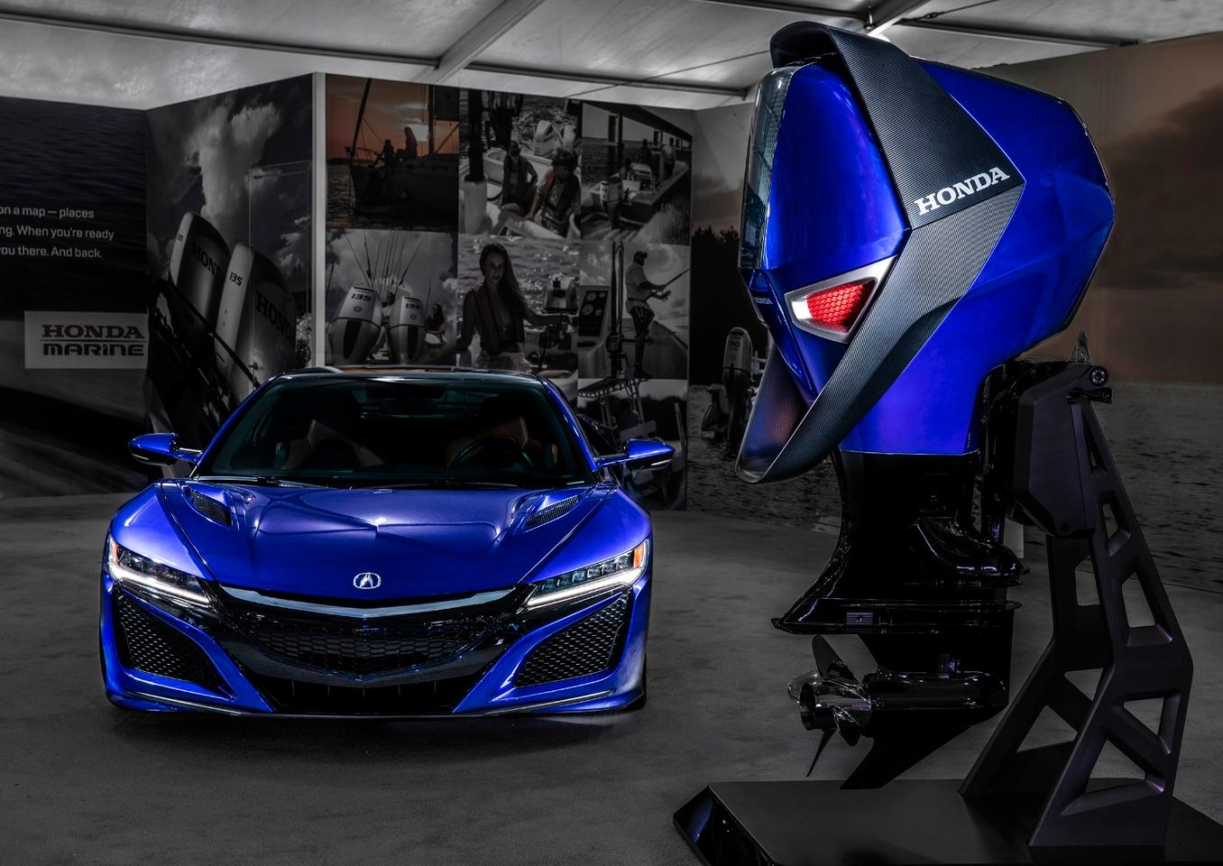 At the Miami show,Honda showed the conceptengine with the car that inspired it