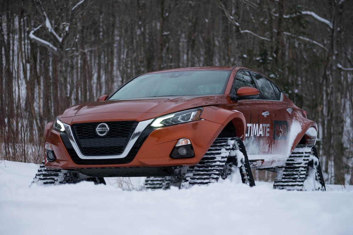 The Nissan Altima-te AWD looks mean from underneath
