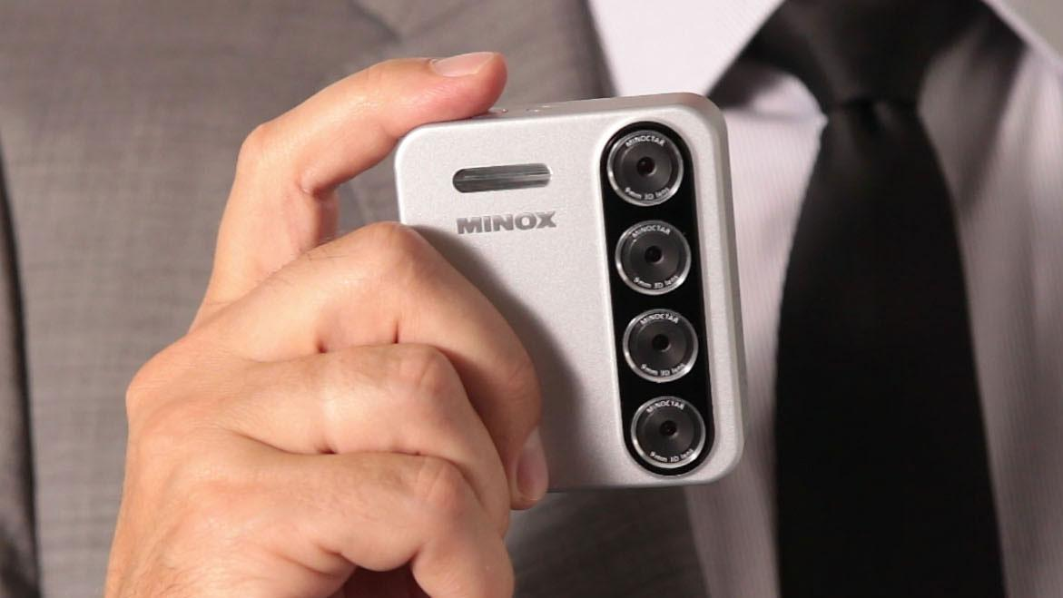 Each of the four lens modules on the PX3D camera from Minox is capable of snapping its own 5 megapixel photograph