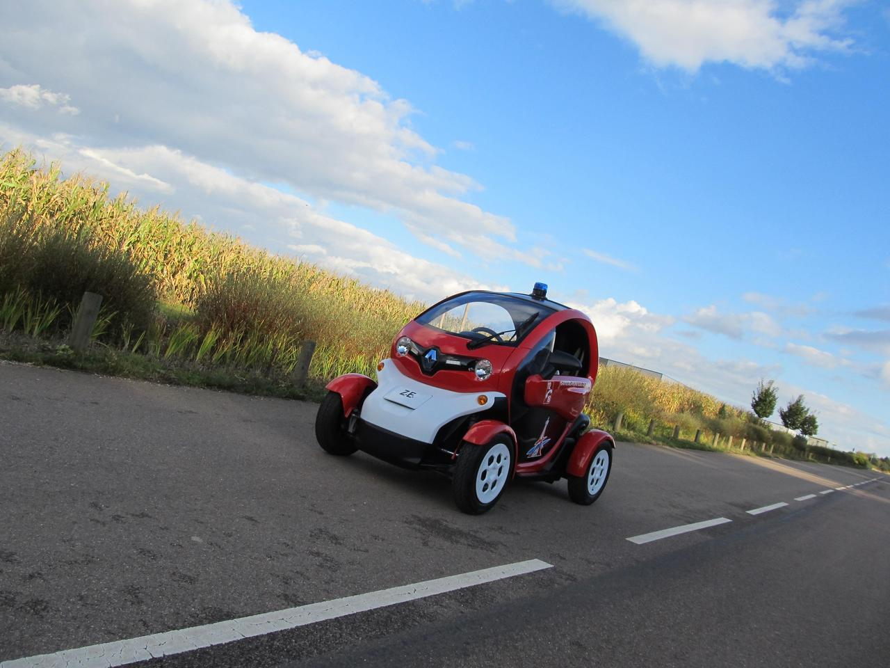 The Renault Twizy...an unlikely firetruck