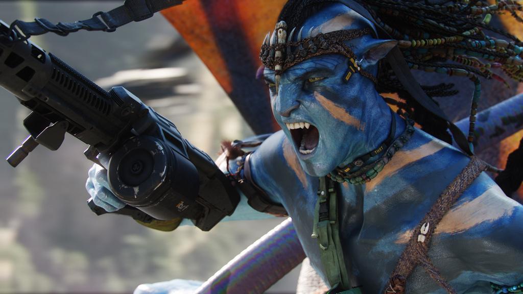 Avatar: Jake Scully in Na'vi form.
