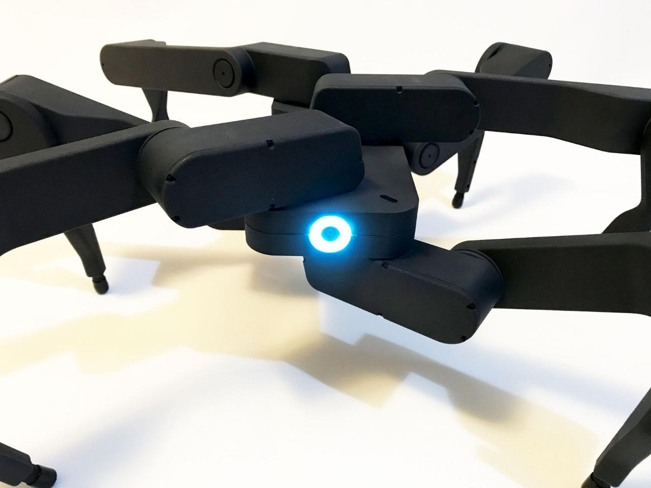The Z6 robot's six legs are attached to a central rectangular body