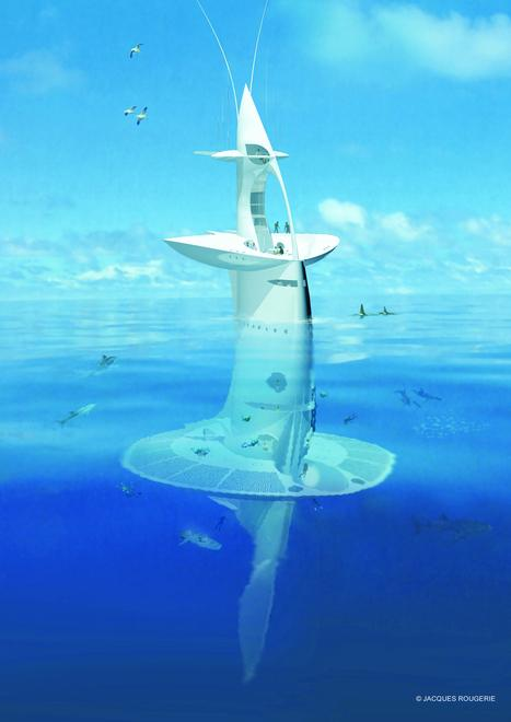 Dubbed the SeaOrbiter, the concept was conceived by French architect Jacques Rougerie