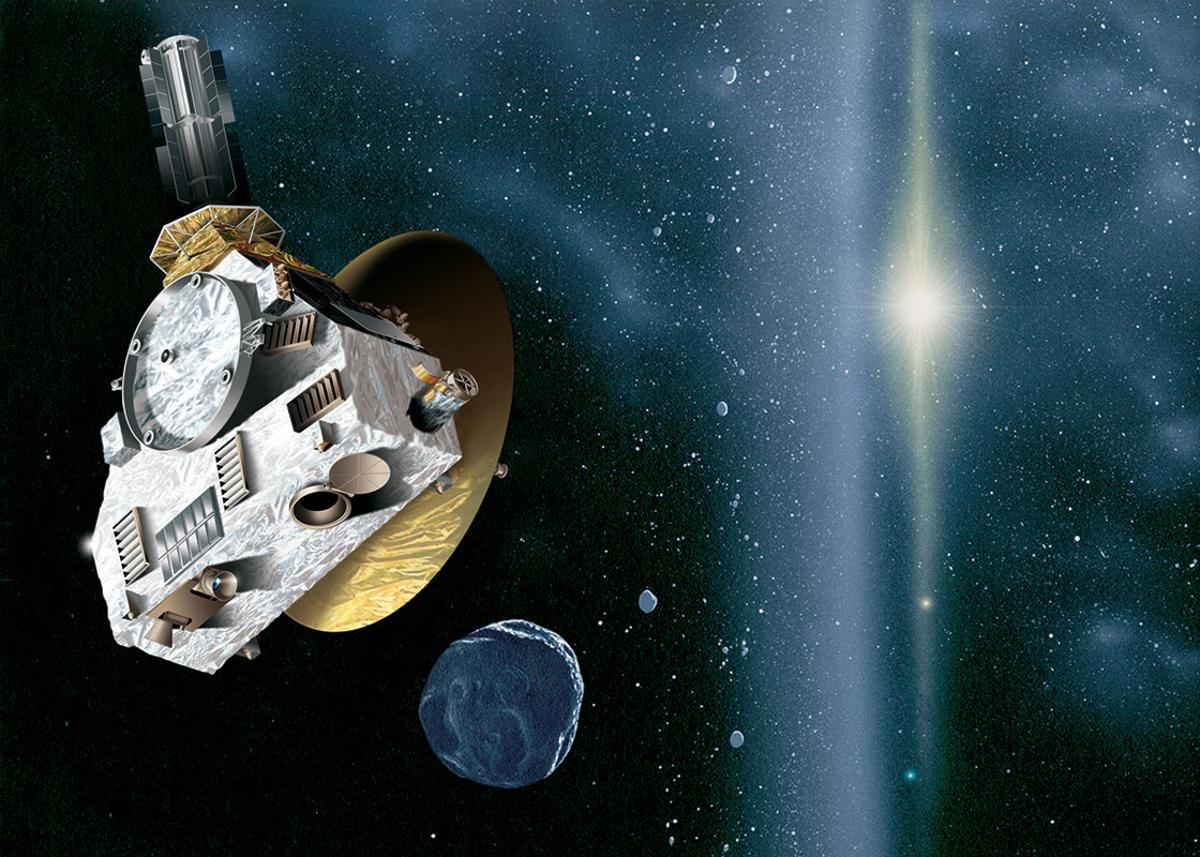 Artist's impression of the New Horizons probe encountering a Kuiper Belt object (Image: JHUAPL/SwRI)