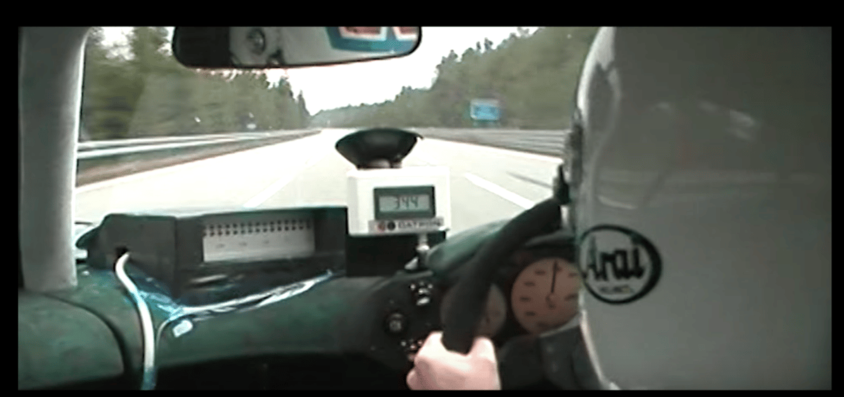 AndyWallace behind the wheel of the McLaren F1