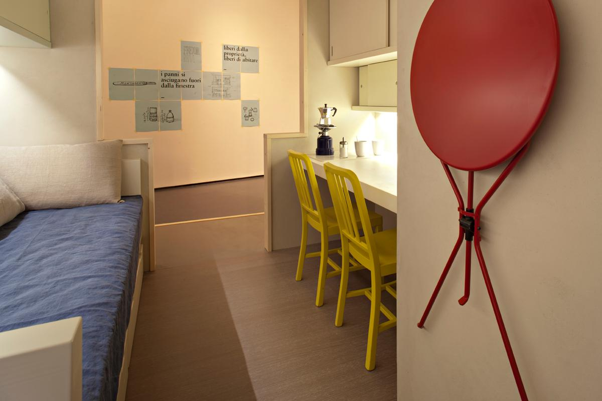 Freedom Room is seen as a viable modular low-cost living space, suitable for implementation in hotels, student facilities, and hostels