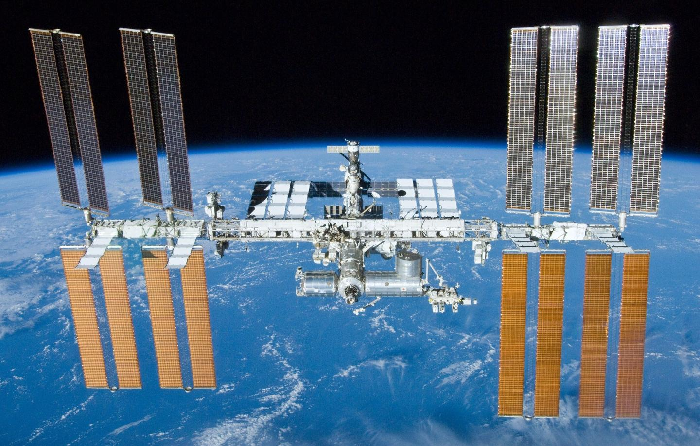 The leak was found aboard a Soyuz capsule berthed with the ISS