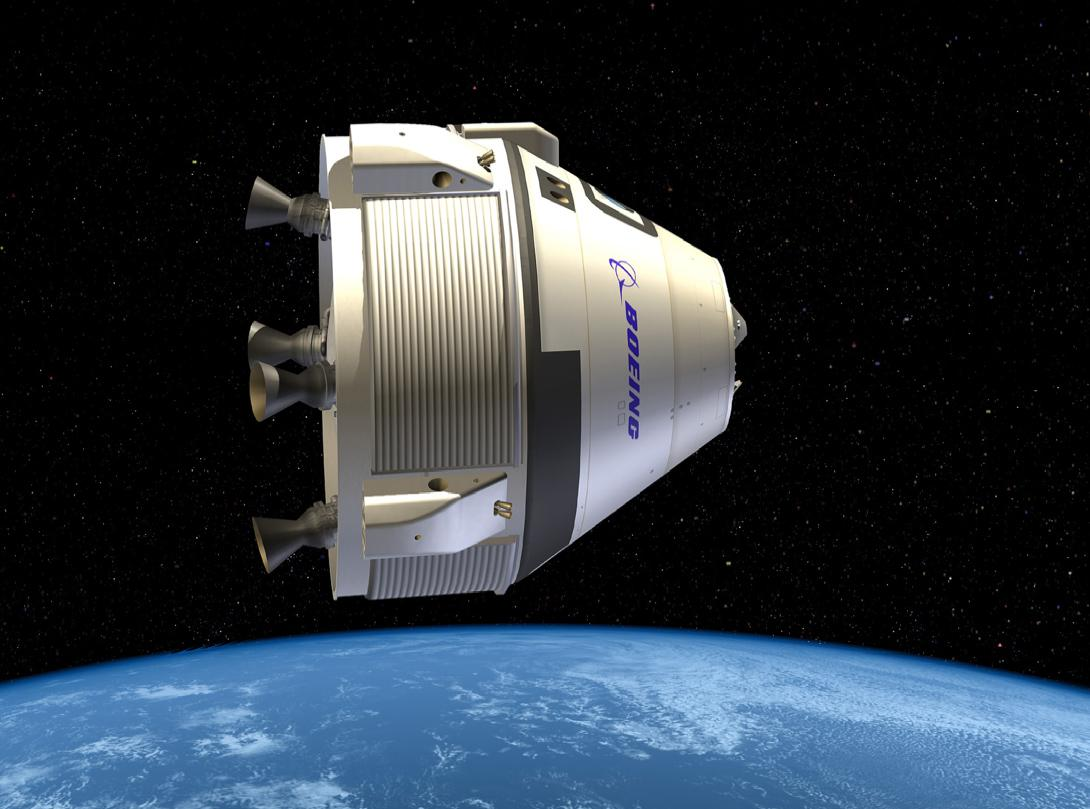 Artist's concept of the CST-100 Starliner in orbit