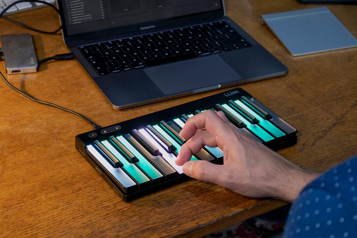 Pitched at performers and producers, the Studio Edition brings MIDI Polyphonic Expression to the Lumi Keys keyboard