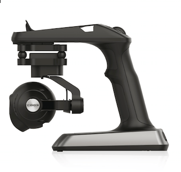 The Typhoon ActionCam shoots in 4K/30fps resolution, and is automatically stabilized along three axes via internal sensors and electric motors