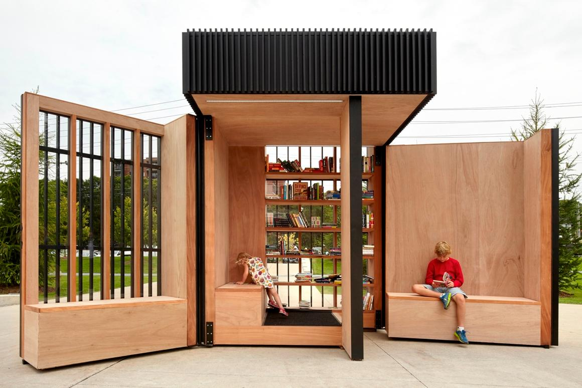 The Story Pod was designed to be aesthetically pleasing, functional, ecologically sound, economical and easy to build for a construction team of volunteers
