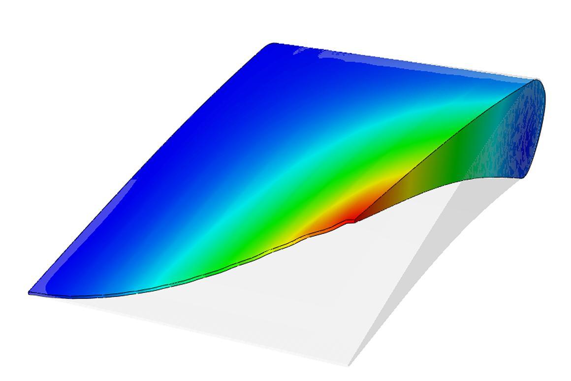 Computer simulation of a wing flex module