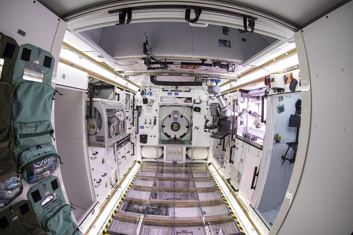 The prototype was built inside a reused Space Shuttle cargo module