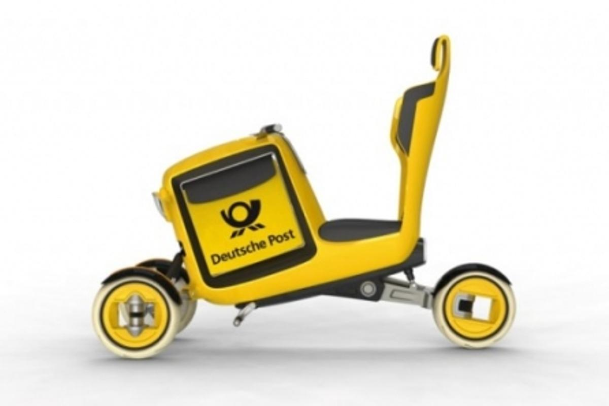 The three-wheeler STEM bike would be readily available from public solar-charging stations