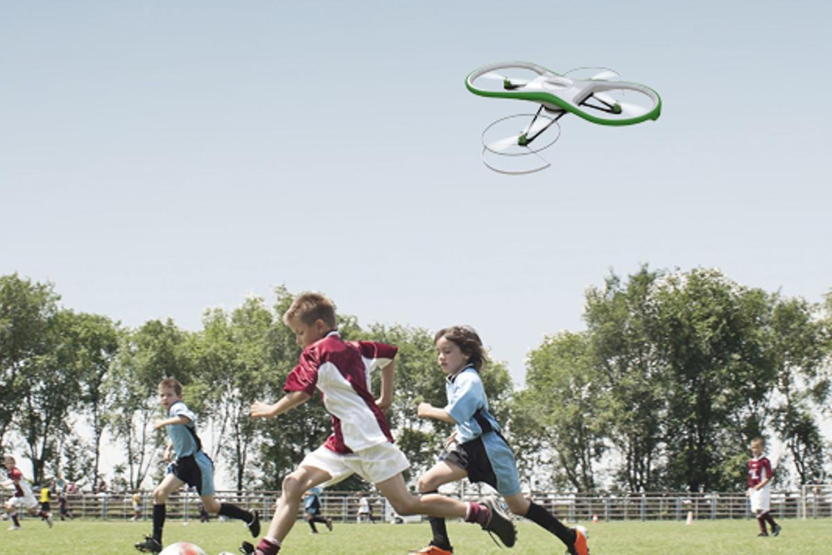 The Skyteboard drone is designed to integrate with the Fatdoor social network to bring communities closer together