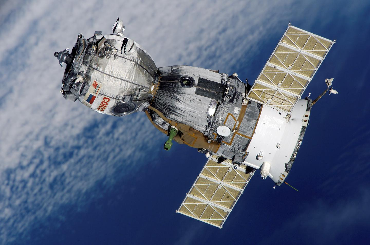 A Soyuz spacecraft on previous visit to the ISS (Image: NASA)