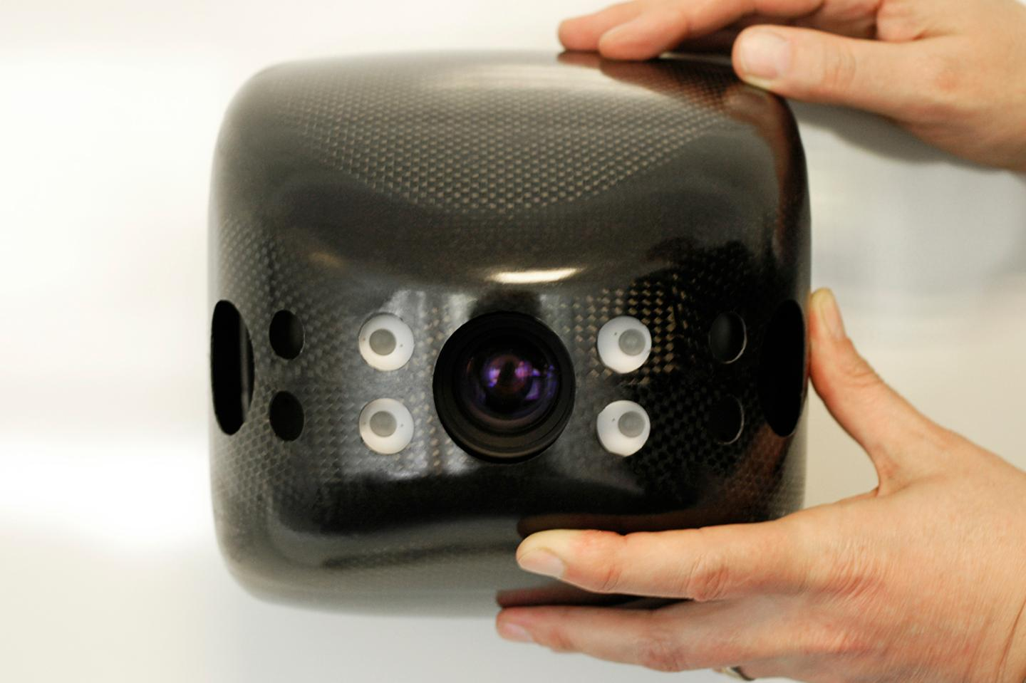 A TriDiCam camera, outfitted with the new 3D CMOS system