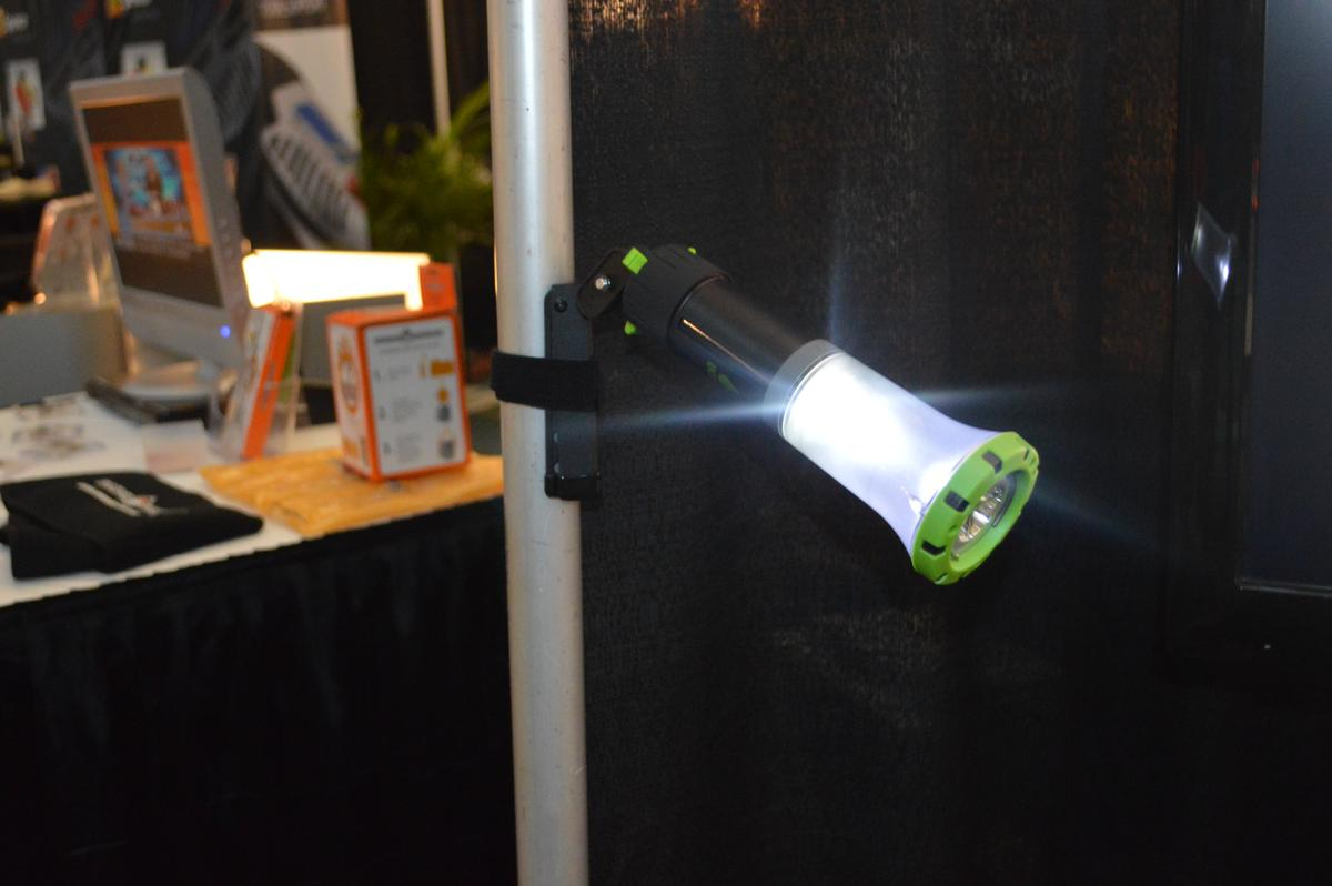 The light is easy to reposition with the Ultrapod
