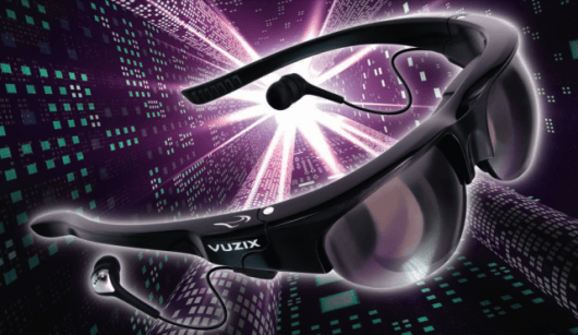 Vuzix Wrap 920AV video eyewear looks like sunglasses and lets you see the world around you.