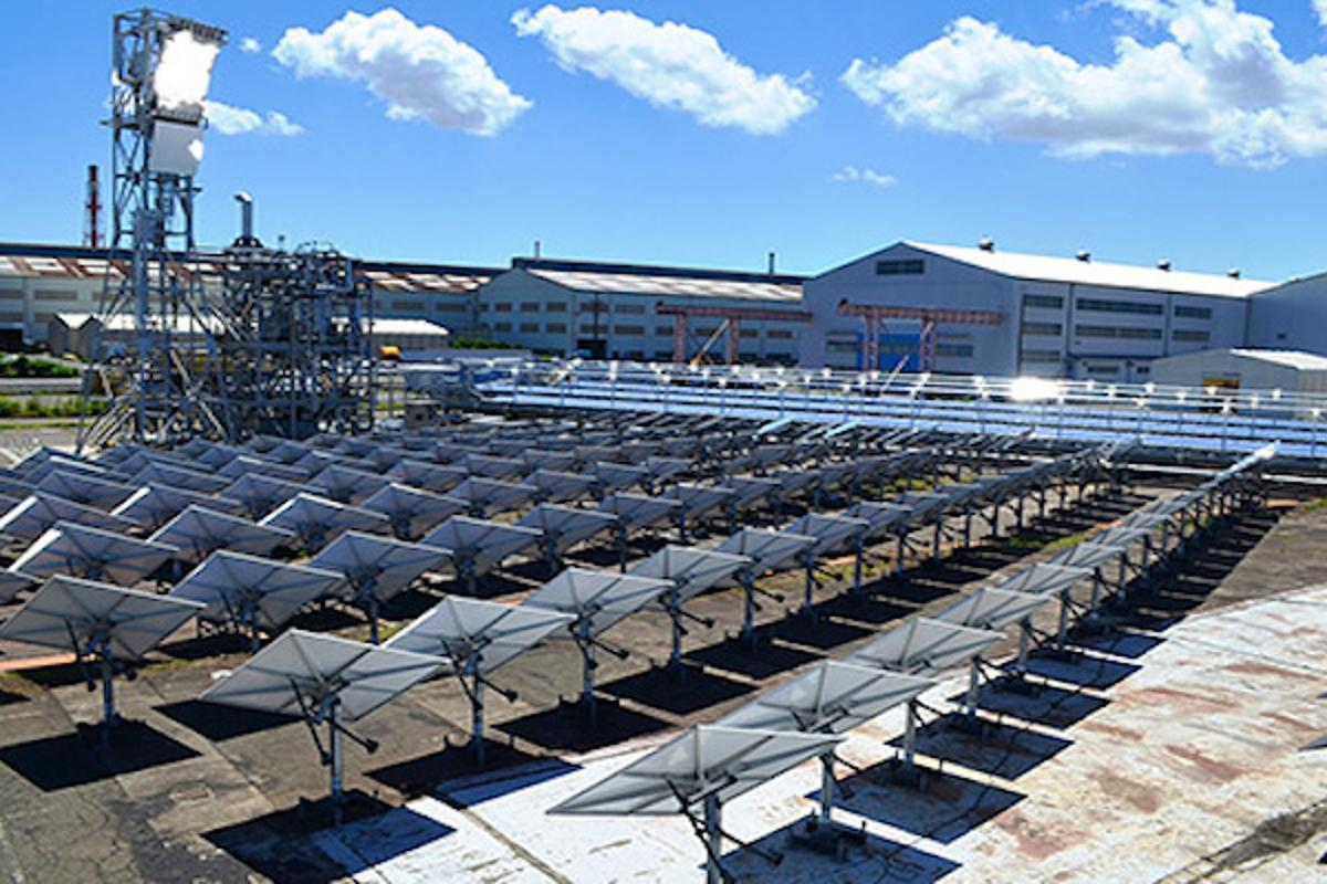 MHPS is testing out a hybrid concentrated solar power system that combines a a solar power tower with a low-temperature, low-cost Fresnel evaporator