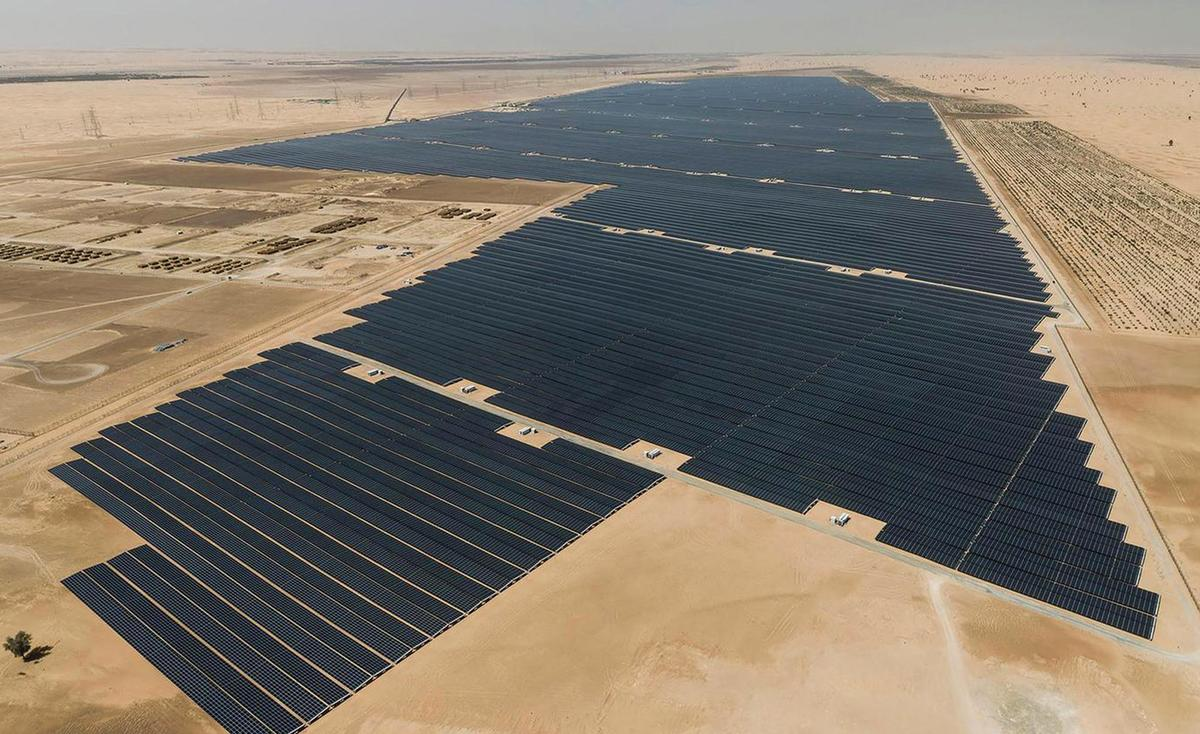 The Noor Abu Dhabi single-site solar plant,which isclaimedto be the largest in the world with a production capacity of nearly 1.2 GW