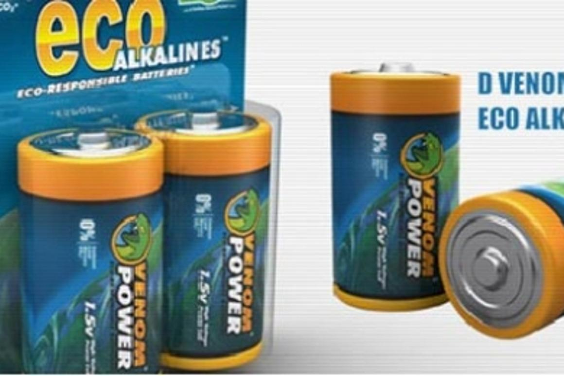 Venom Eco Alkaline batteries are the world's first certified carbon neutral batteries