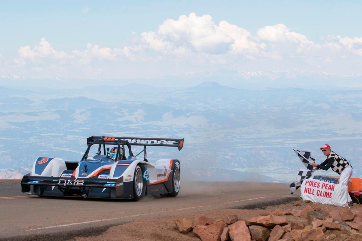 The eOPP100 on the way up Pikes Peak