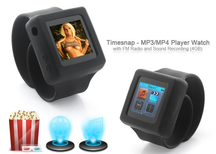The Timesnap is a low-cost portable media player wristwatch