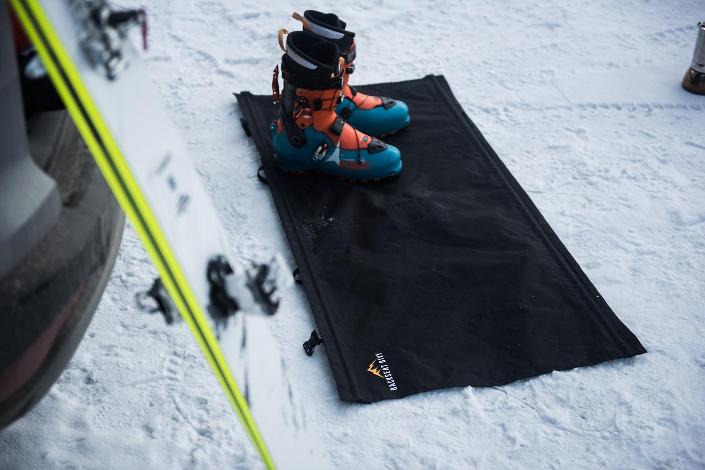 When not in use as a bed extender (suspender?), the Backseat Bivy can be used as a storage or entry mat ... just don't get it too wet or dirty if you plan to sleep on it later