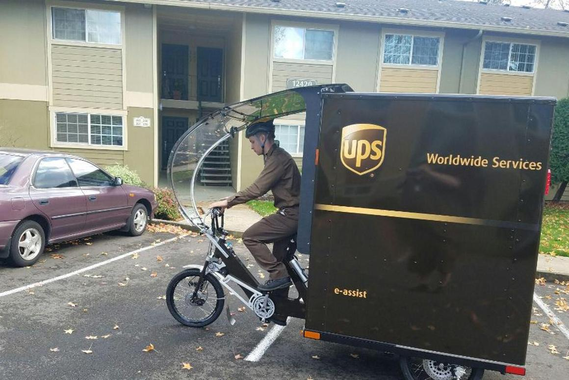 The Cargo Cruiser makes a delivery in Portland