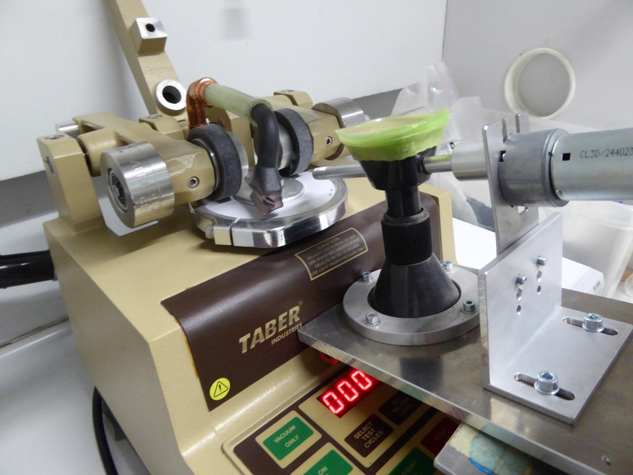 An abrasion testing machine