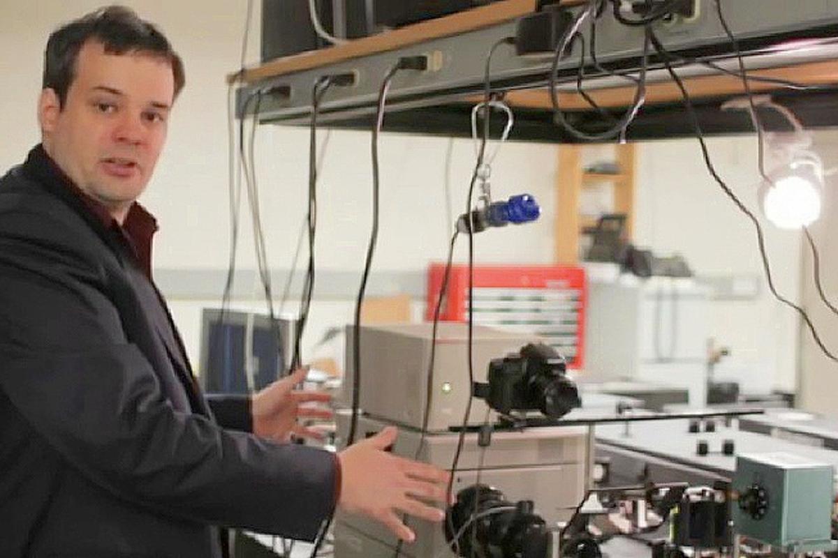 Media Lab postdoctoral associate Andreas Velten explains how the camera works