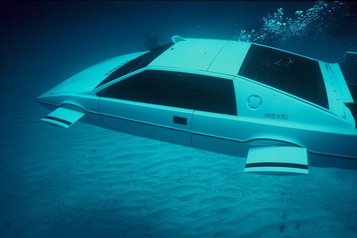 """Known as """"Wet Nellie"""" by the crew, this one and only fully operational underwater Lotus Esprit will go up for auction this September"""