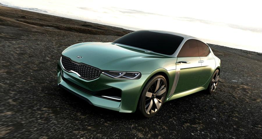 The Kia Novo concept is a 1.6 l (0.35 gal) fastback coupé