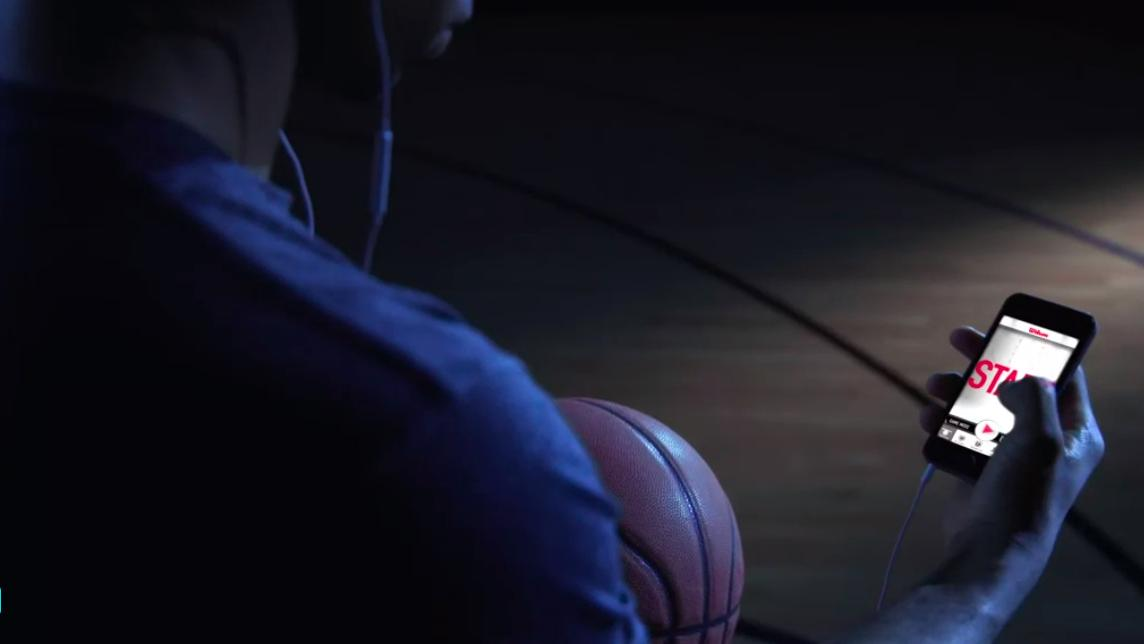 Wilson's Smart Basketball pairs wirelessly with a smartphone app to track training performance