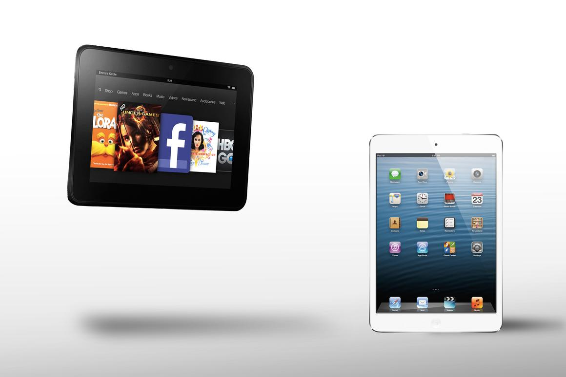 How does the iPad mini compare to the Kindle Fire HD?