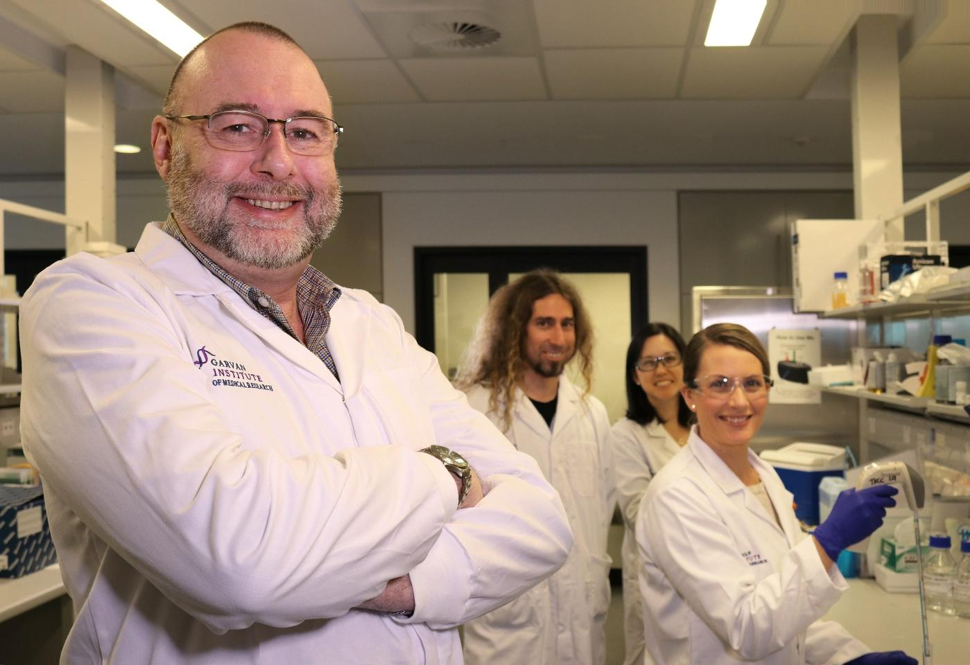 Research team: Prof Neil Watkins with Racheal Zekanovic, Dr Alvaro Rajal and Venessa Chin