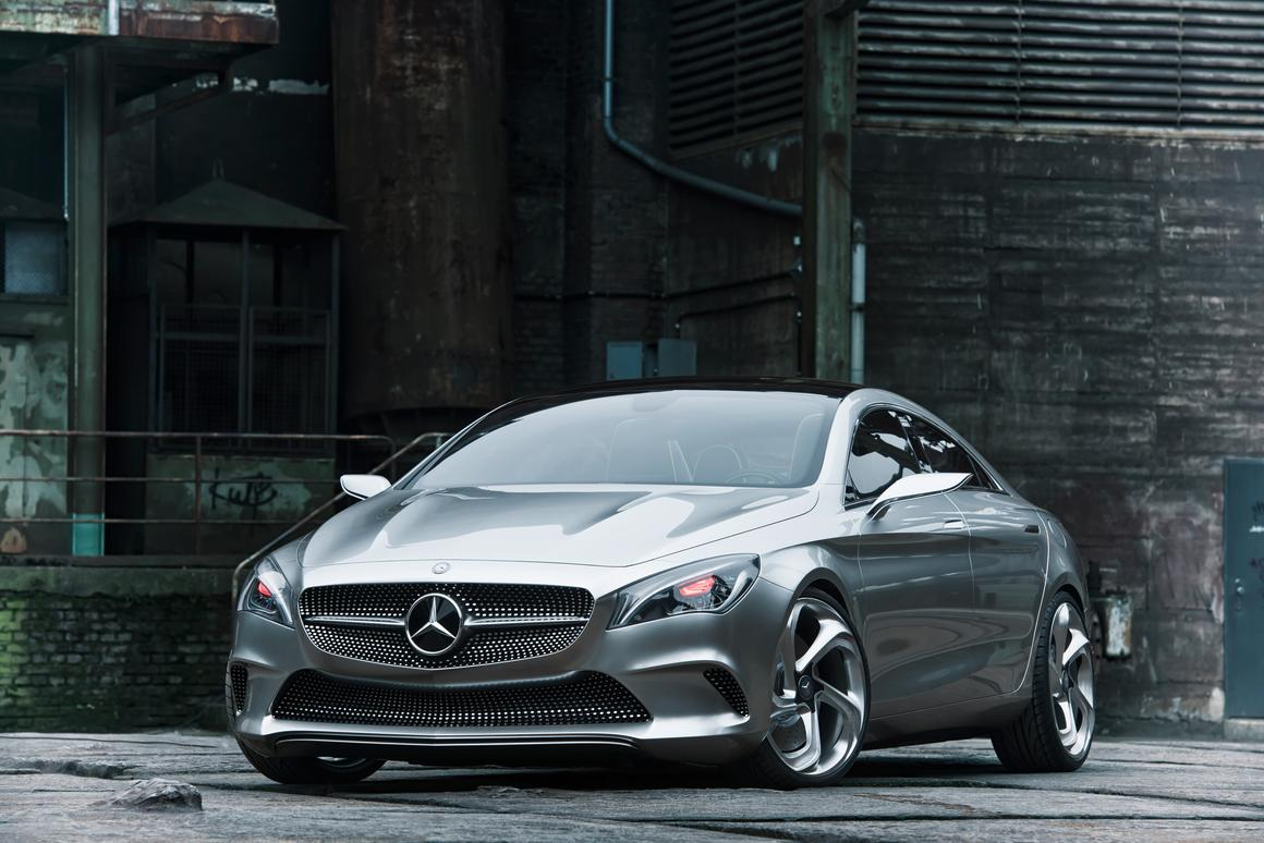 The Style Coupe Concept is a sporty executive four-door coupé with a 211 bhp two-liter, turbo-charged four driving through Mercedes' 4MATIC all-wheel drive system.