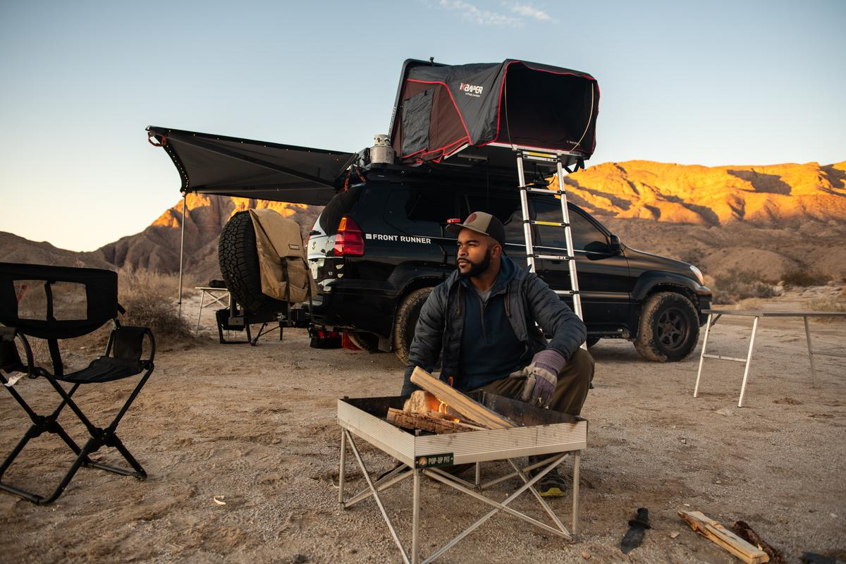 Creating a campsite out of lonely dirt